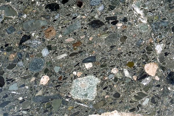 愛宕山層群の岩石 - 礫岩