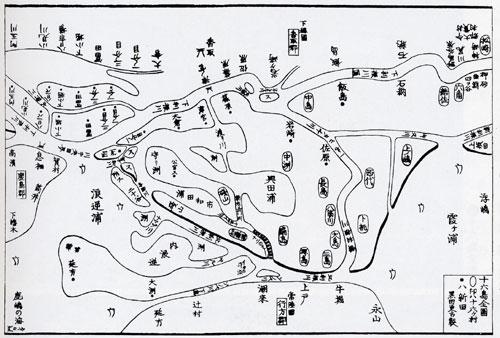 十六島全図 - 水郷と十六島の誕...